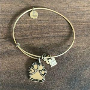 Alwx and Ani silver paw print bracelet